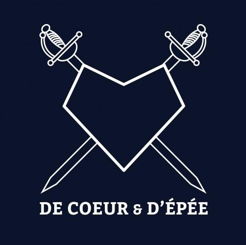 LOGO DE COEUR ET D'EPEE BLEU
